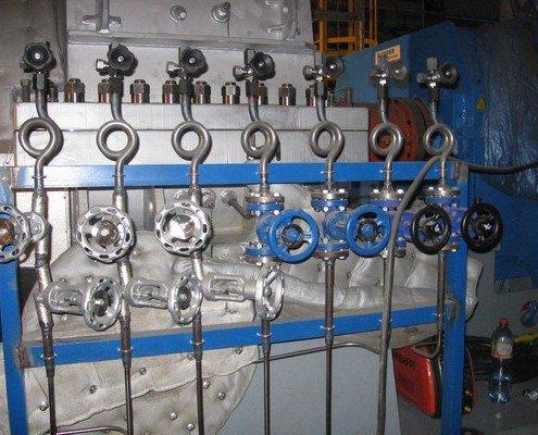 Impulzné potrubie merania na turbíne 8,45MW
