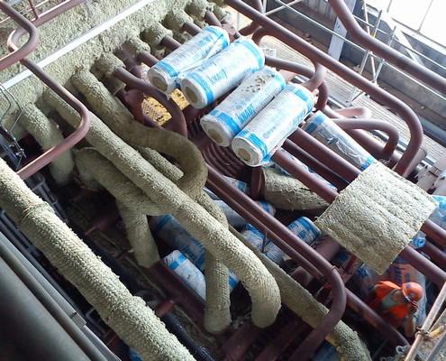 Isolierung Leitung für Schmuggler Kesselkörper