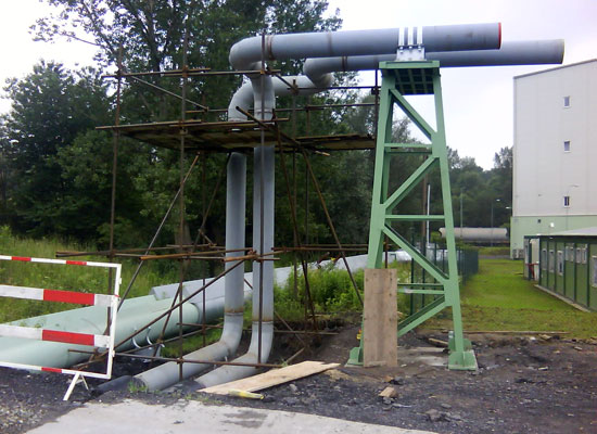 Installation of steam pipeline DN400 for ET mont group in the area of power plants Detmarovice, Czech Republic