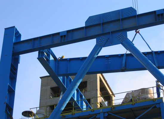 Assembly and welding on steel structures for Montáže Ltd, Cement Lukavac - Bosnia and Herzegovina