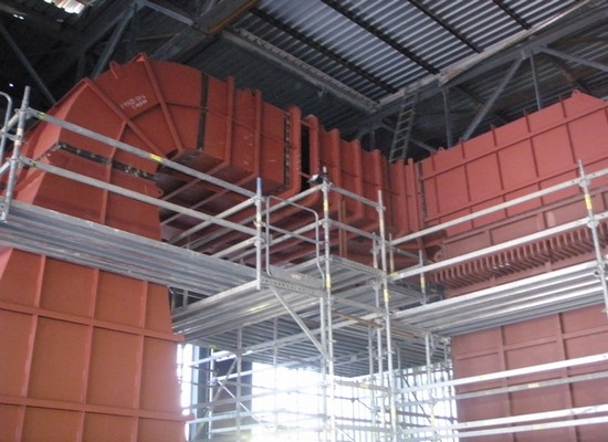 Exhaust the superheater and economizer