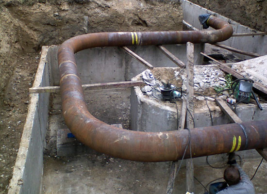 Exchange pipelines DN300, DN200 Dalkia Ostrava a.s.