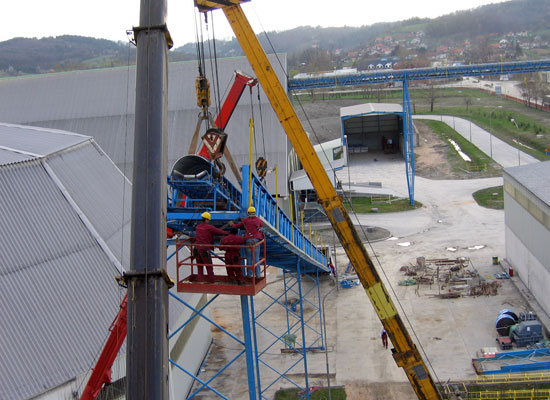Assembly and welding for Montáže Ltd, Cement Lukavac - Bosnia and Herzegovina
