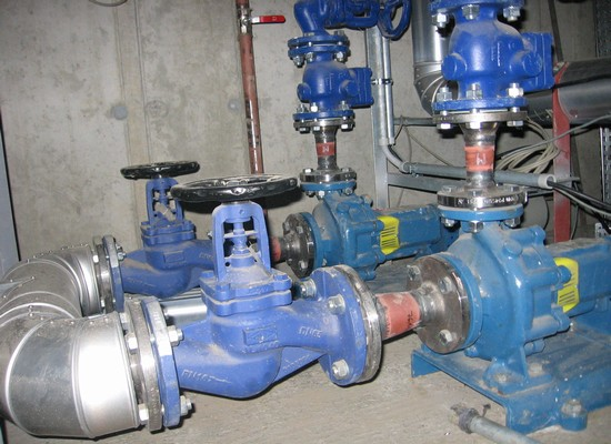 Pumps condensate from the condensate collector