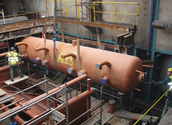 Installation of the boiler body
