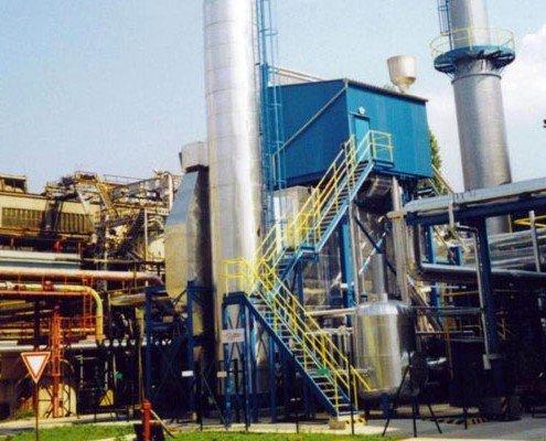 2002 Montáž kogeneračnej jednotky o parametroch 30t/hod., 1,3 MPa, vrátane dodávok komínov, oceľových konštrukcií