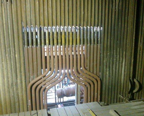 Výmena častí bočných membránových stien spaľovacej komory